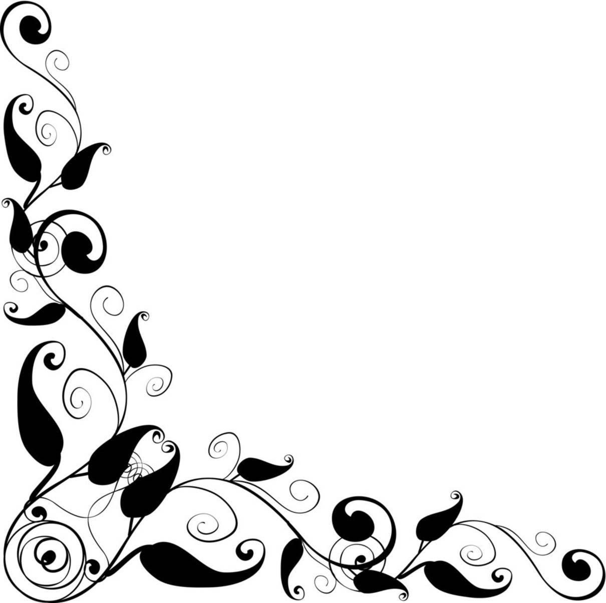 Vector clipart floral png Floral Design corner frame   vector - ClipArt Best ... png