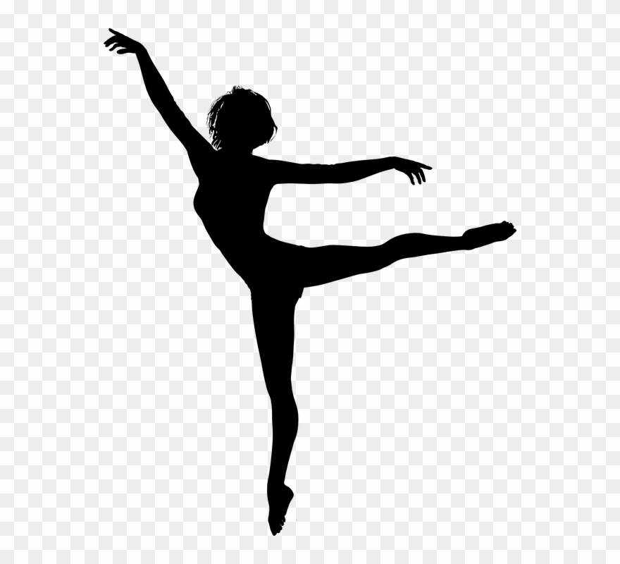 Vector clipart girl dancing graphic black and white download Ballet Vector Dance Move - Dancing Girl Silhouette Png ... graphic black and white download