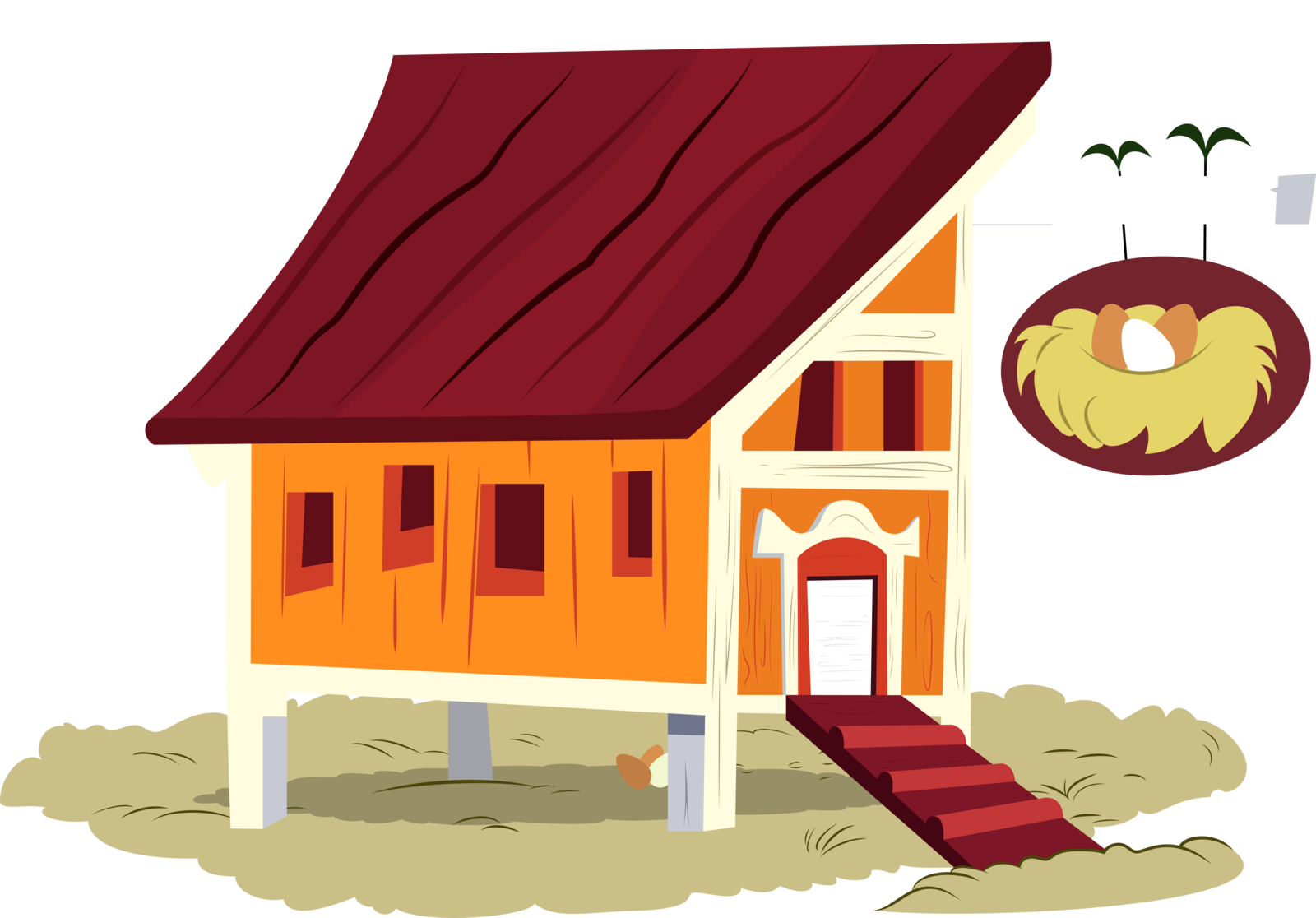 Vector clipart house png free stock Chicken coop clipart - Clipground png free stock