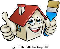 Vector clipart house painter jpg House Painting Clip Art - Royalty Free - GoGraph jpg