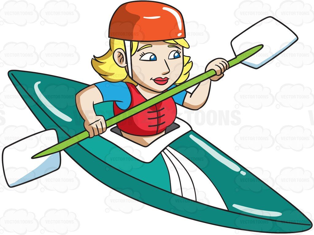 Vector clipart kayak clip free stock A woman in competitive kayak race #cartoon #clipart #vector ... clip free stock