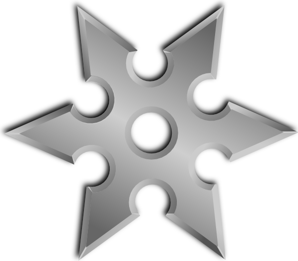 Vector clipart ninja star silhouette free clip art free stock Shuriken Clip Art at Clker.com - vector clip art online, royalty ... clip art free stock