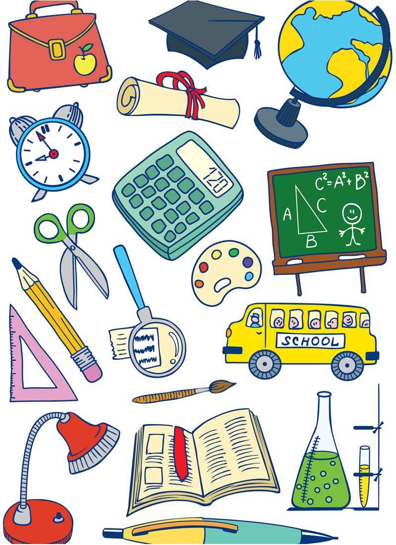 Vector clipart of school free stock Cartoon school vector   Teacher Gifts   School images ... free stock