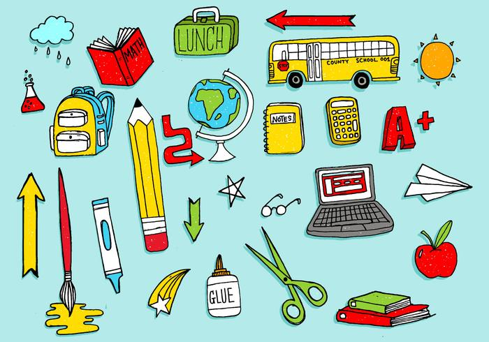 Vector clipart of school clipart freeuse stock School Supplies Free Vector Art - (10,422 Free Downloads) clipart freeuse stock