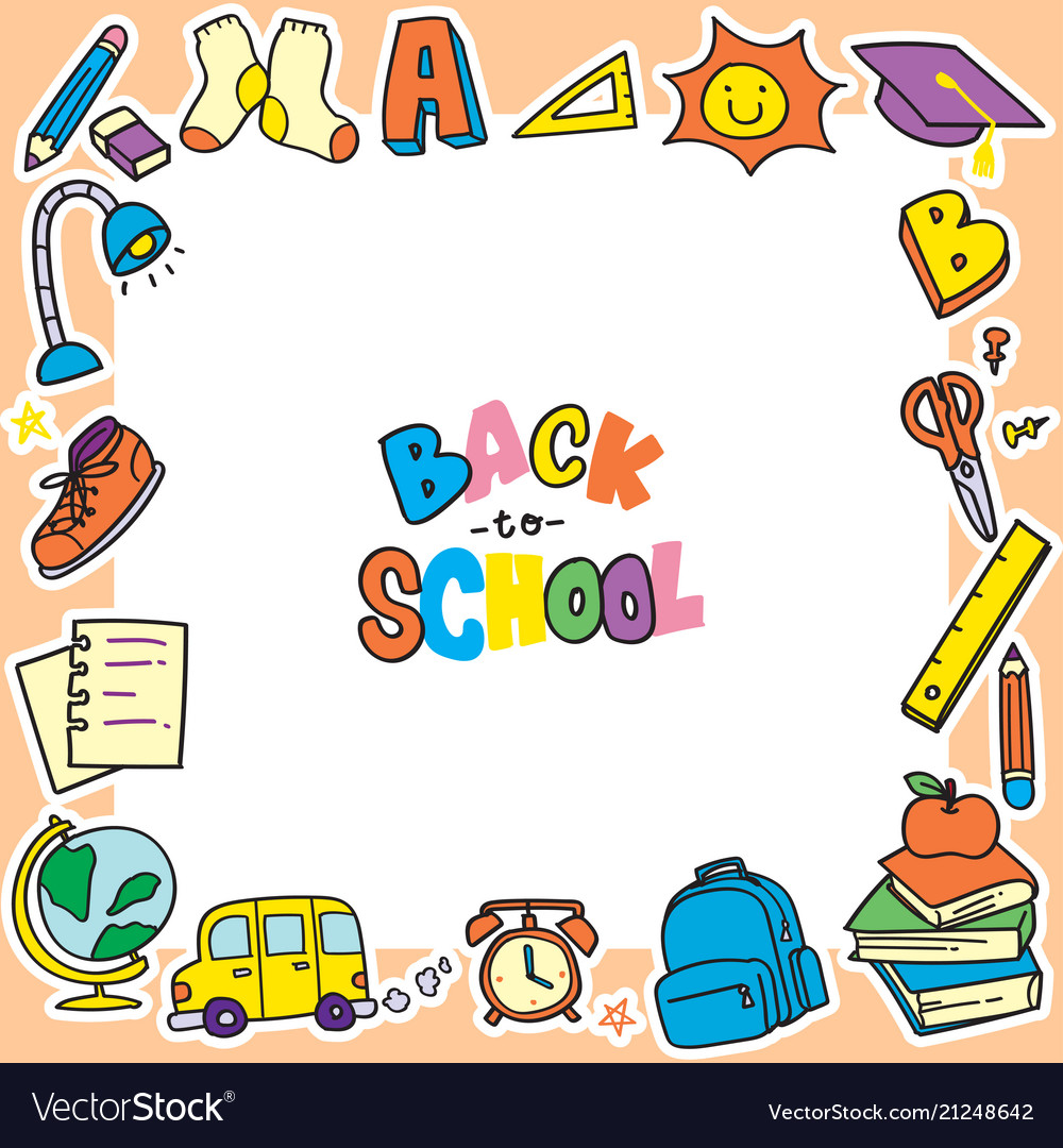 Free frame vector clipart. Back to school doodle