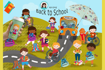 Vector clipart of school svg royalty free stock Back to school vector clipart svg royalty free stock