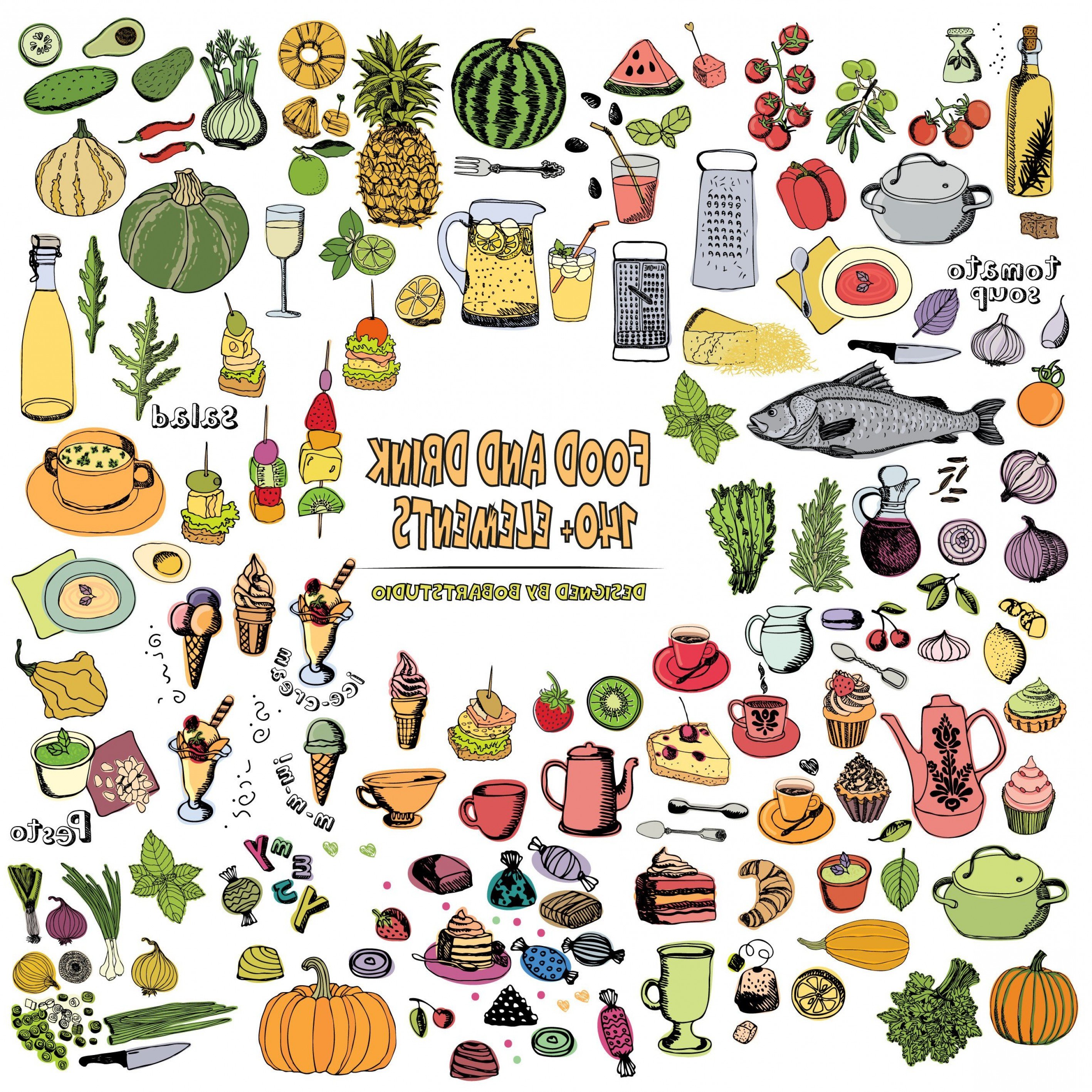 Vector clipart packs picture royalty free library Food Clipart Vector Pack Drink Clipart | SOIDERGI picture royalty free library