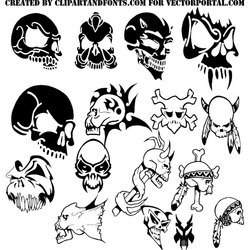 Vector clipart packs clip royalty free library Free SKULLS VECTOR PACK DOWNLOAD.eps PSD files, vectors ... clip royalty free library