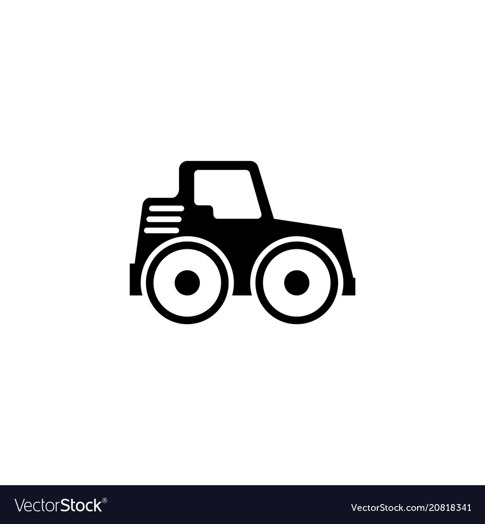 Vector clipart paver man vector black and white stock Road roller asphalt compactor paver flat vector black and white stock