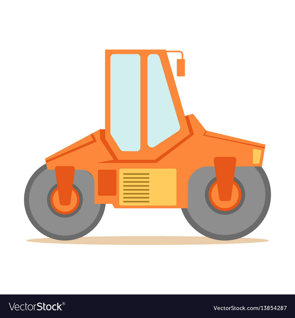 Vector clipart paver man jpg download Small orange paver machine part of roadworks and jpg download