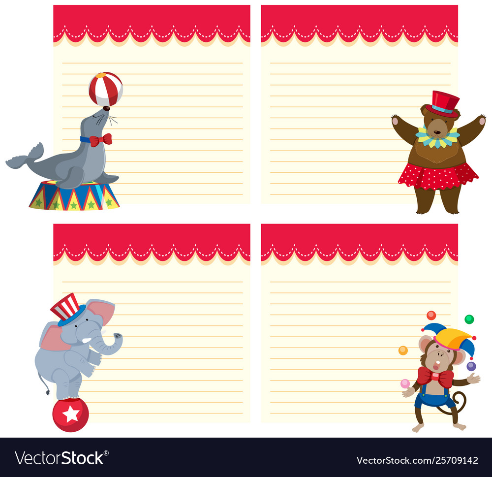Vector clipart set animals svg library download Set animals with notepad svg library download