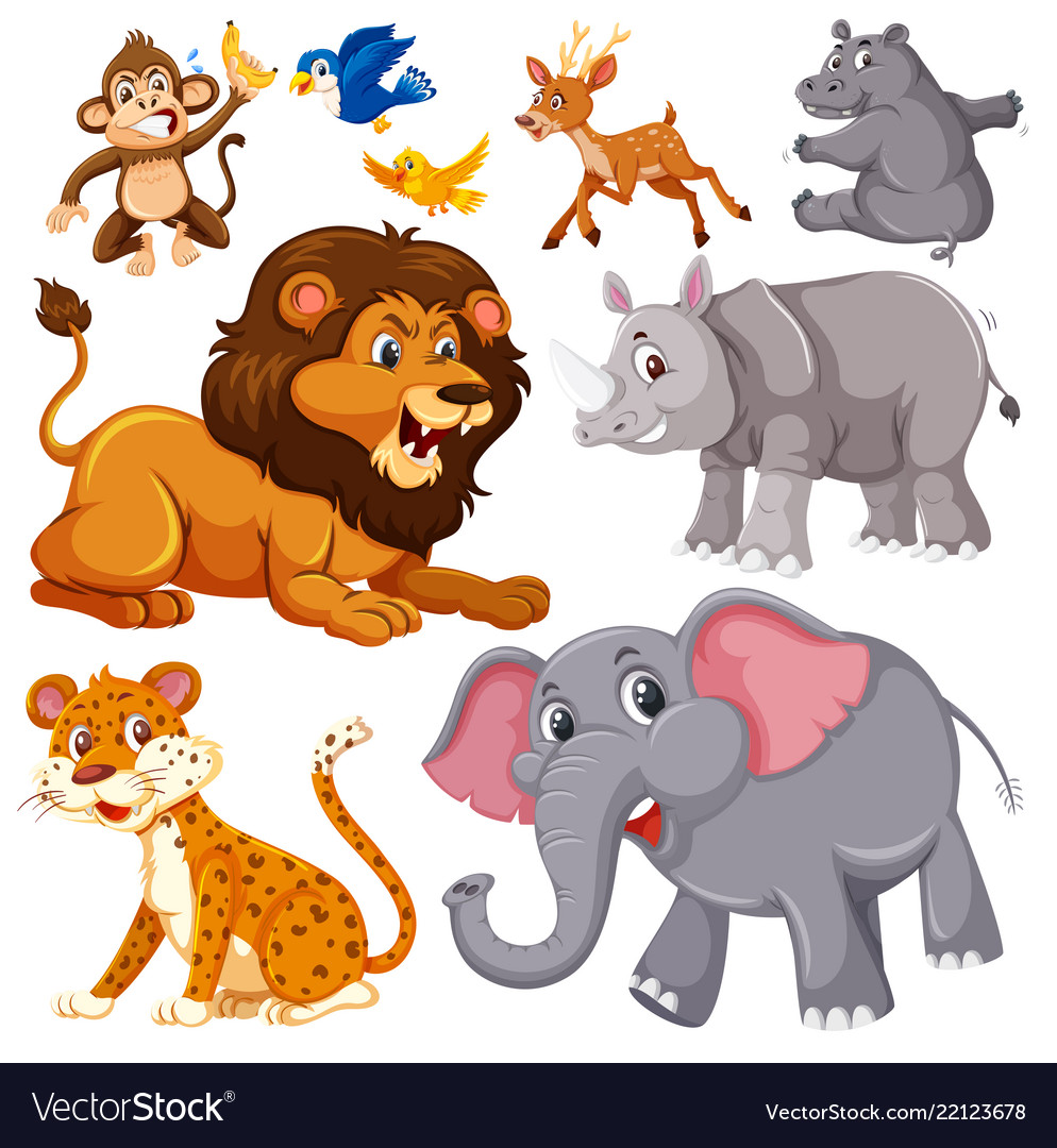 Vector clipart set animals svg library library A set of wild animals svg library library