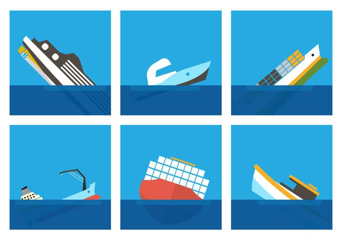 Vector clipart sunken ship clipart royalty free library Sunken Ship Vectors - Download Free Vector Art, Stock ... clipart royalty free library