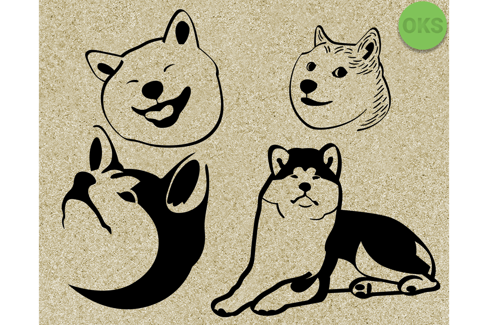 Vector cute clipart banner black and white download Akita Svg Vector Cute Dog Clipart banner black and white download