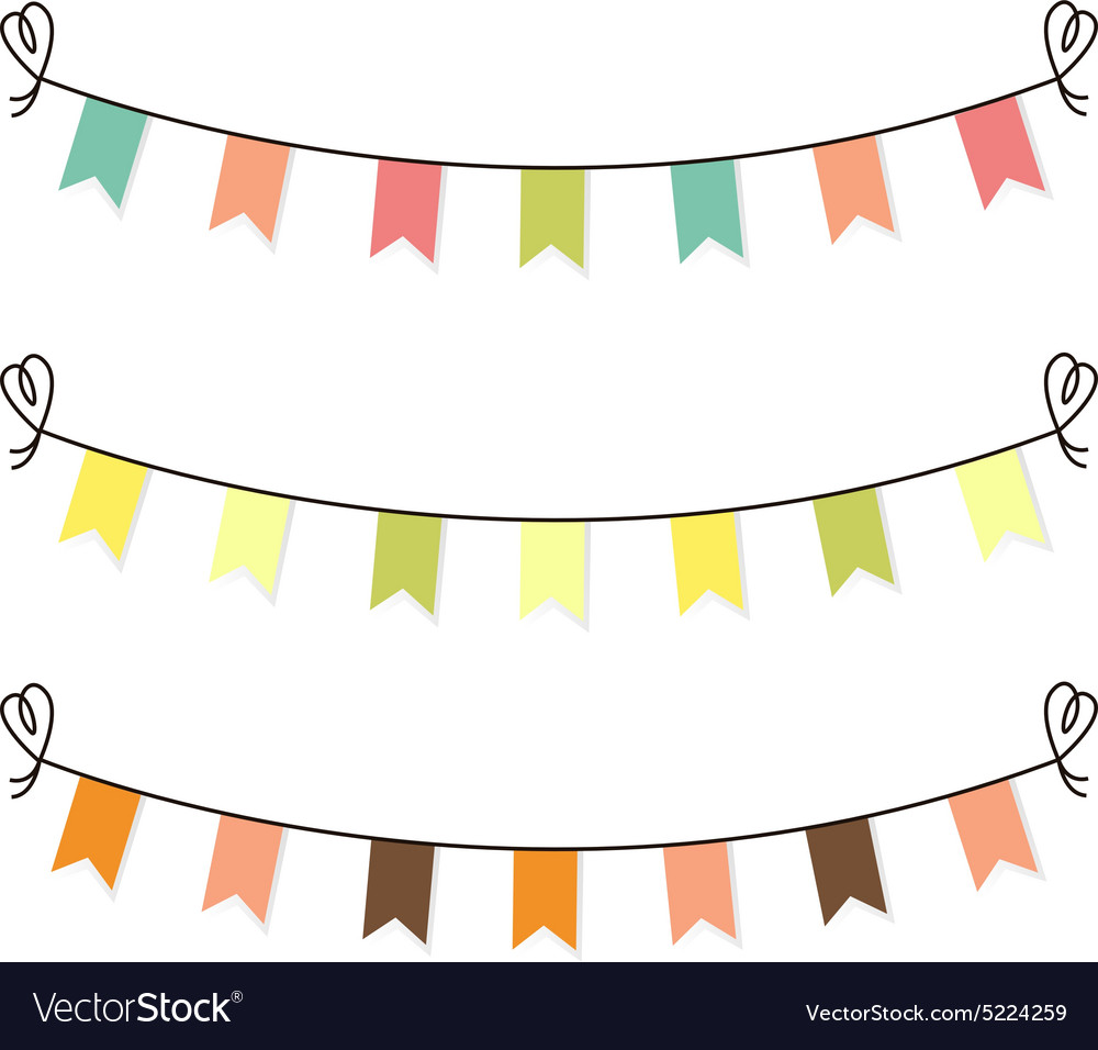 Vector cute clipart graphic transparent stock Cute flags clipart for baby shower set graphic transparent stock