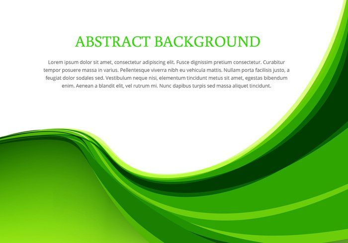 Vector design background green clipart free Green wave background design vector - Download Free Vector ... free