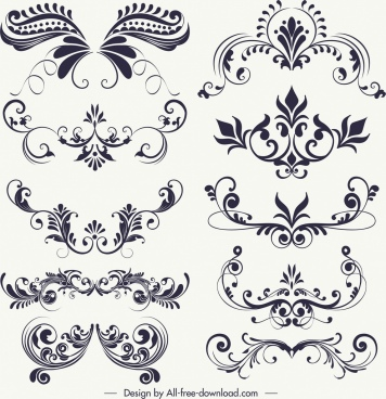 Vector design clipart black and white picture freeuse download Black and white vintage frame border free vector download ... picture freeuse download
