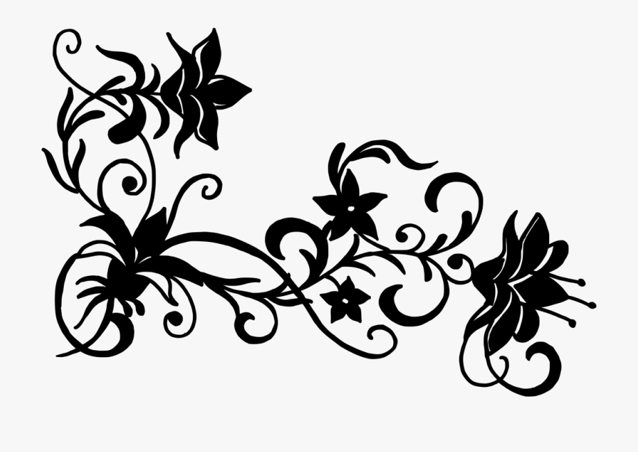 Vector design clipart black and white jpg Flower Silhouette Free - Flower Design Vector Png #241527 ... jpg