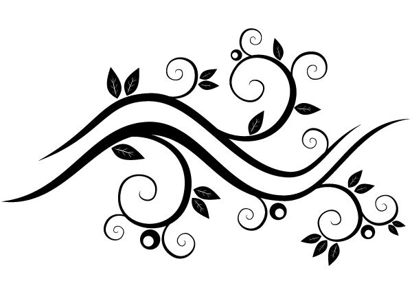 Vector design clipart black and white banner royalty free download Vector Abstract Wavy Floral Design | Download Free Vector ... banner royalty free download