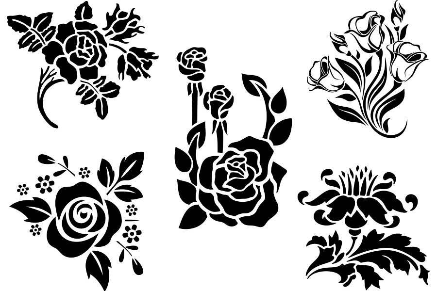 Vector design clipart vector freeuse library SVG and PNG cutting files, Floral Design, Clipart, Vector, SVG, PNG,  Wreaths, Frames, Elements (vr) vector freeuse library