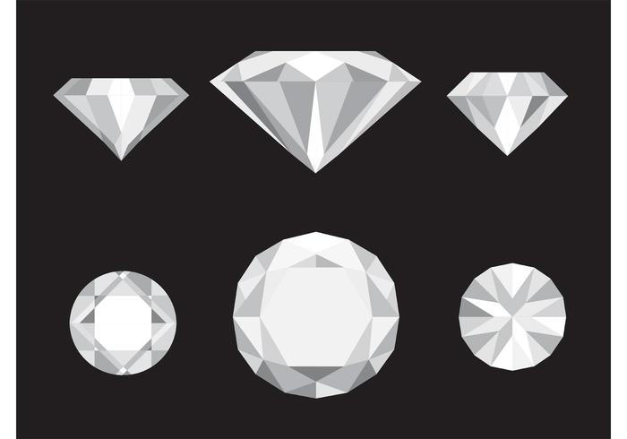 Vector diamond clipart clip black and white stock Vector Diamond Icons - Download Free Vectors, Clipart ... clip black and white stock