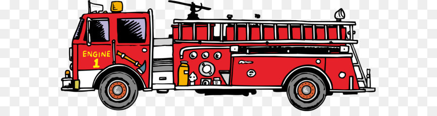 Vector firetruck clipart svg black and white Download Free png Fire safety Firefighter Clip art Fire ... svg black and white