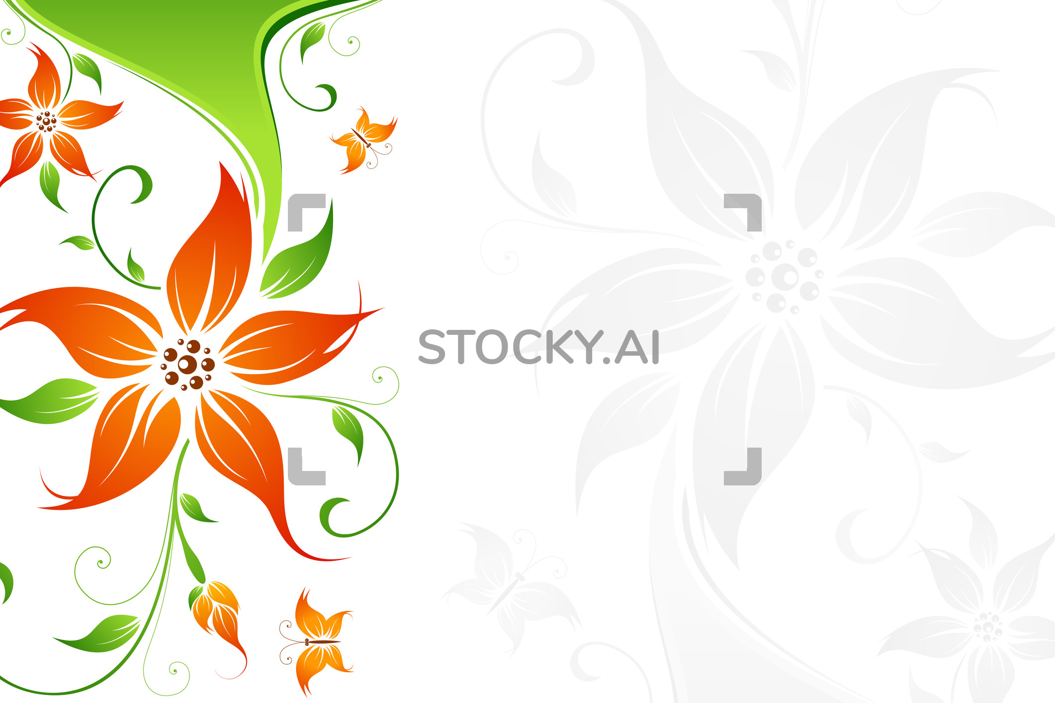 Library Of Vector Floral Background Image Library Library Png