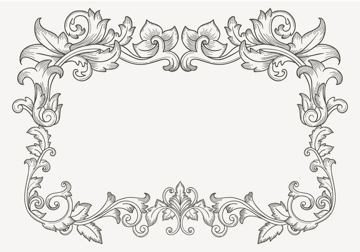 Vector floral vintage clipart png freeuse Floral Vintage Filigree Border - Download Free Vectors ... png freeuse