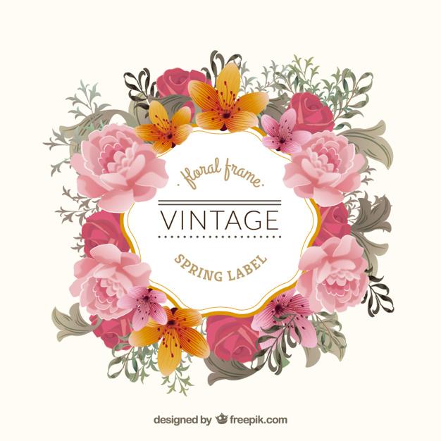 Vector floral vintage clipart clip free Vintage floral frame Vector | Free Download clip free