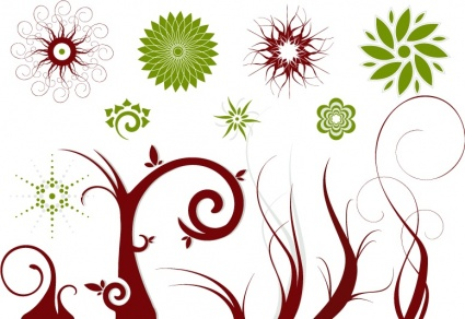 Vector flowers free image transparent stock Free Vector Flowers and Swirls | free vectors | UI Download image transparent stock