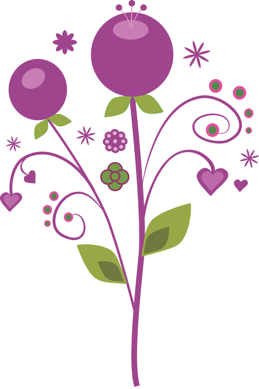 Vector flowers free picture freeuse download Free Image on Pixabay - Purple, Vector, Flowers | Vector flowers picture freeuse download