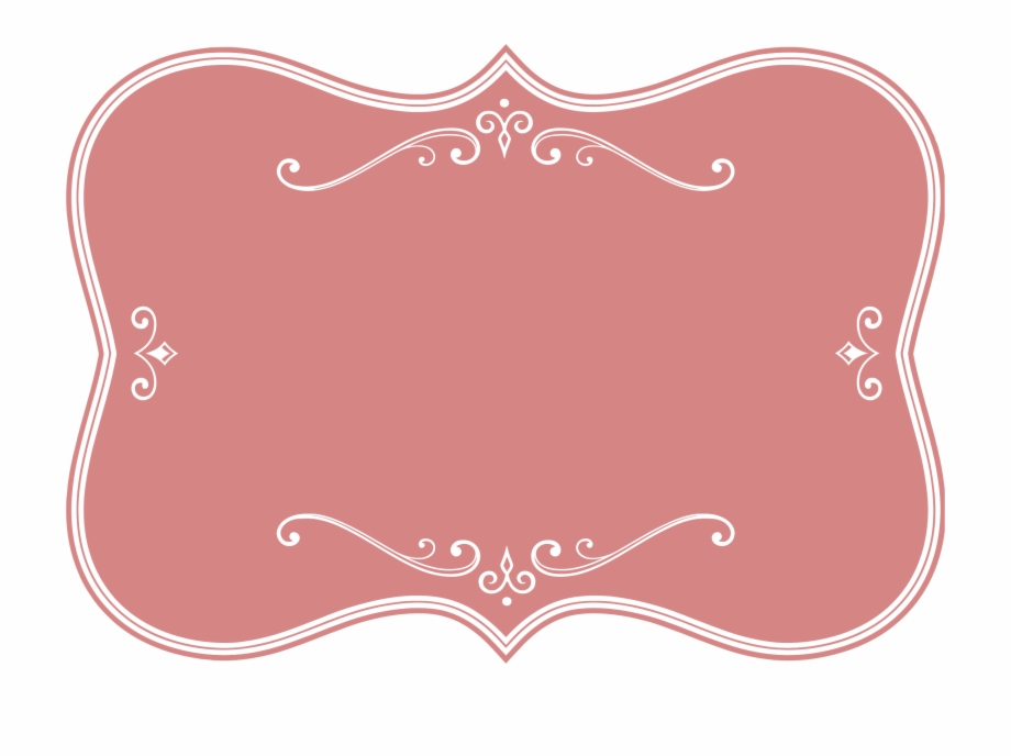 Vector frame clipart png royalty free library Flourishes Clipart - Pink Vector Frame Png Free PNG Images ... png royalty free library