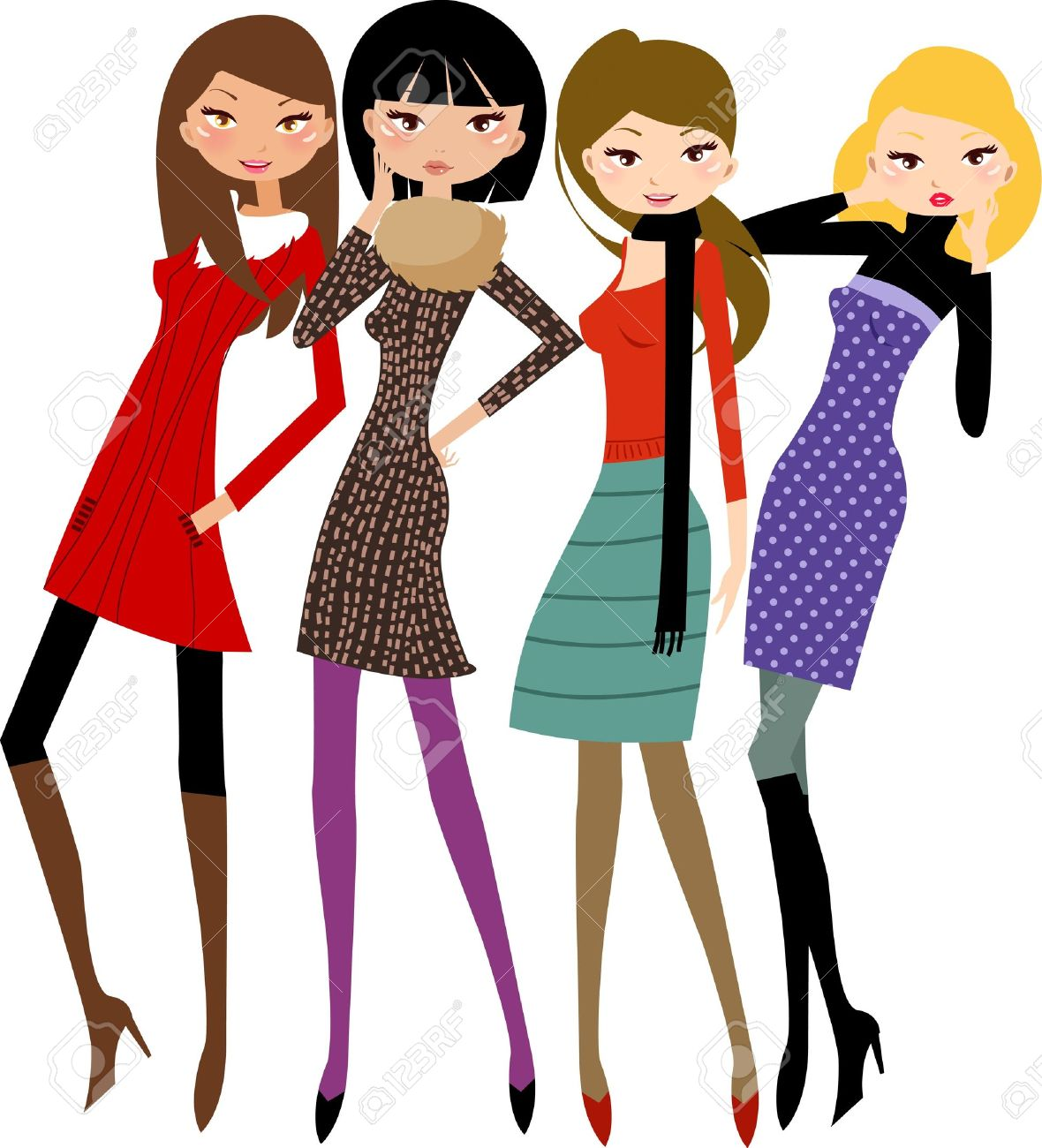 Women friend clipart clip transparent Friends Hanging Out Clipart | Free download best Friends ... clip transparent
