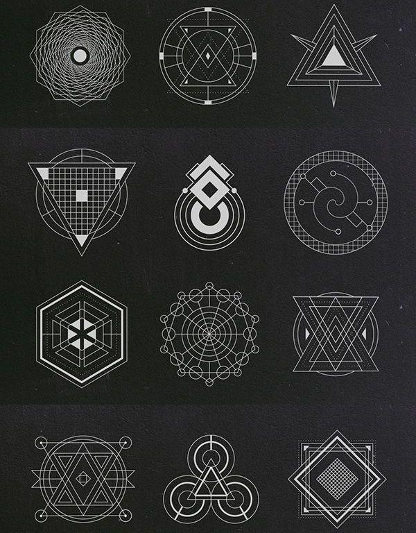 Vector geometry clipart svg transparent Sacred Geometry Vectors | Graphic Design Elements ... svg transparent