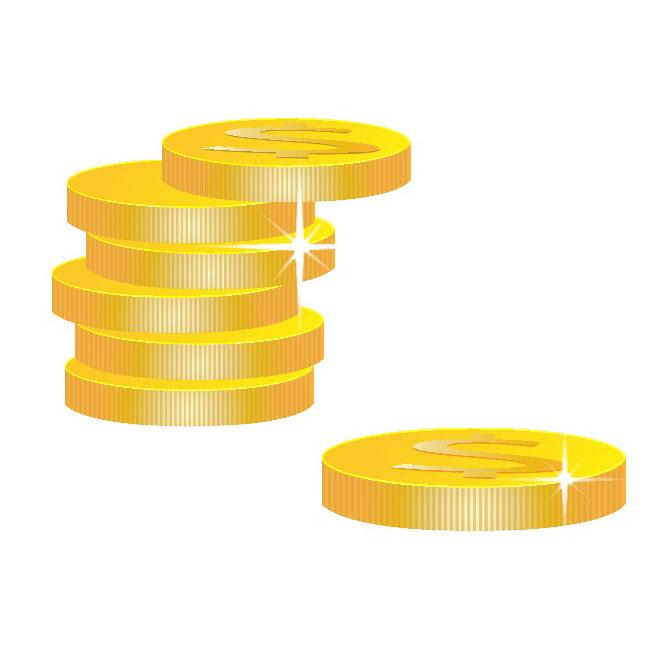 Vector gold coins clipart svg free Golden Coins Clipart Free Vector svg free