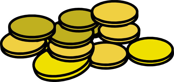 Vector gold coins clipart vector freeuse stock Gold coins clip art at vector clip art - ClipartBarn vector freeuse stock
