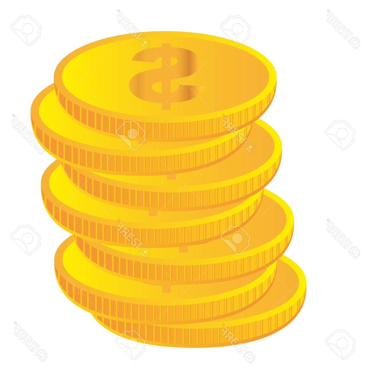 Vector gold coins clipart svg black and white stock Unique Gold Coin Clip Art Vector Images » Free Vector Art ... svg black and white stock