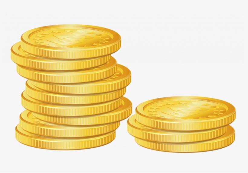 Vector gold coins clipart clip art transparent Coins Vector Gold - Gold Coins Clipart Png - Free ... clip art transparent