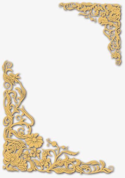 Vector gold frame clipart banner transparent Vector Gold Frame, Vector, Golden, Frame PNG and Vector with ... banner transparent
