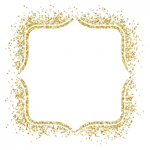 Vector gold frame clipart jpg freeuse stock Nice golden frame made with confetti Vector | Free Download jpg freeuse stock