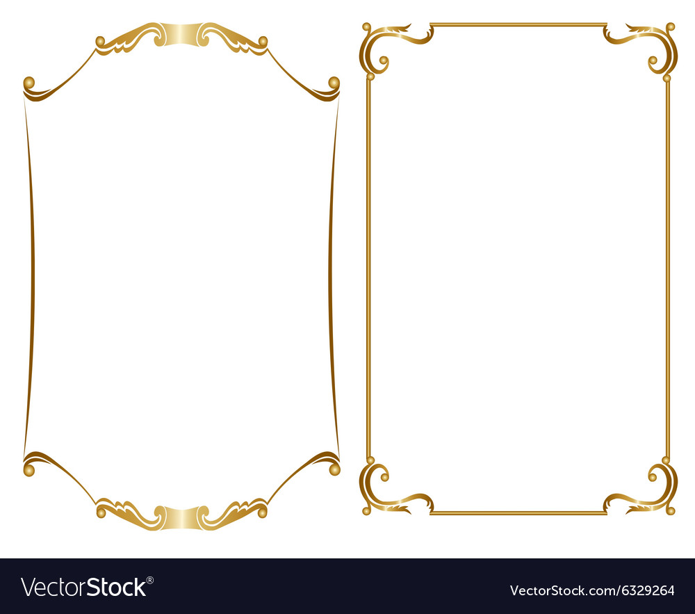 Vector gold frame clipart graphic free stock Two gold frame graphic free stock