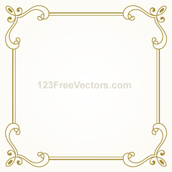 Vector gold frame clipart clip black and white stock Vector Gold Frame Png Vector, Clipart, PSD - peoplepng.com clip black and white stock