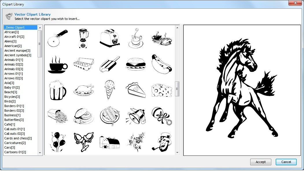 Vector images clipart clip black and white Clipart Collections - 17,000+ Vector Clipart | vinyl cutter ... clip black and white