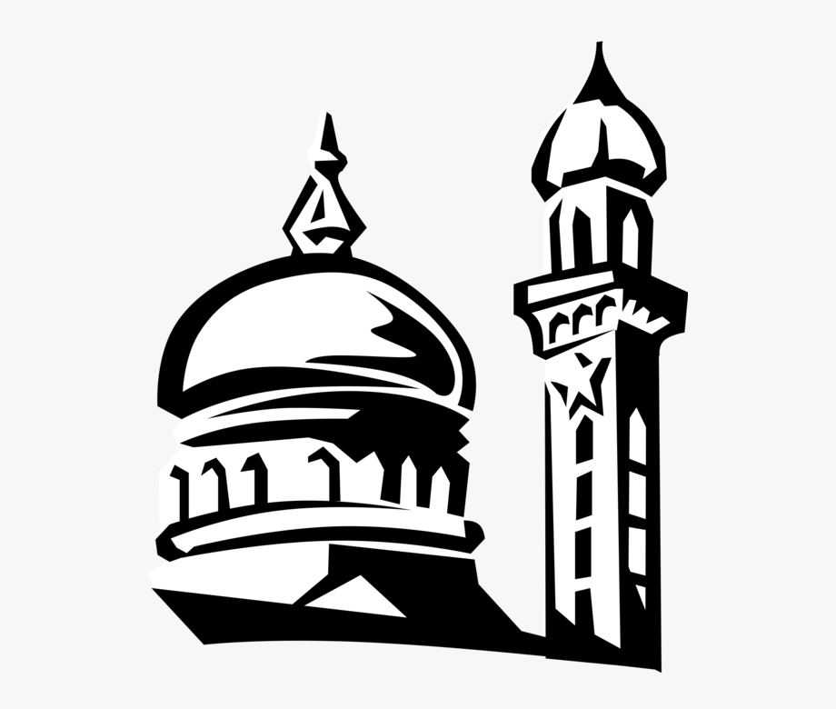 Vector masjid clipart jpg download Banner Transparent Mosque Drawing Black And White - Vector ... jpg download