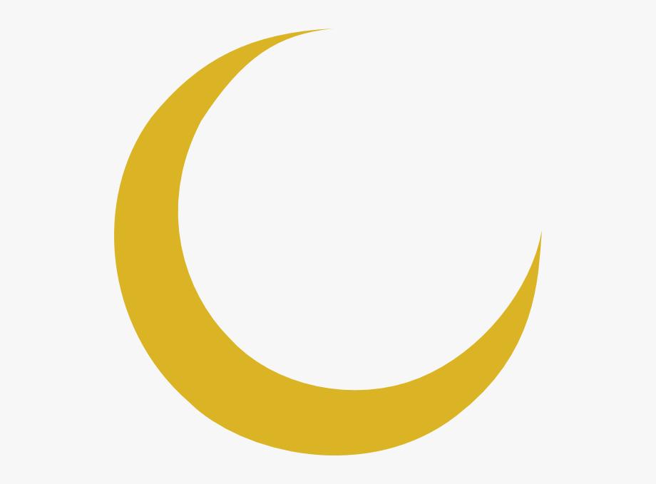 Crescent Moon Clip Art At Vector Clip Art - Gold Crescent ... clip art library stock
