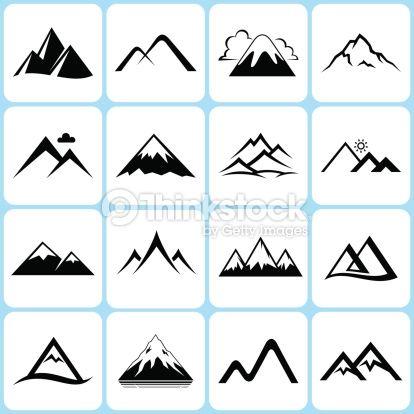 Vector mountain clipart image stock vector mountain icons set | mountain vector | Mountain ... image stock
