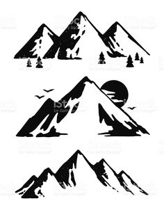 Mountain vector clipart svg black and white 85 Best mountain vector images in 2019 | Free vector art ... svg black and white