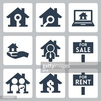 Vector real estate clipart graphic Vector Real Estate Icons Set stock vectors - Clipart.me graphic