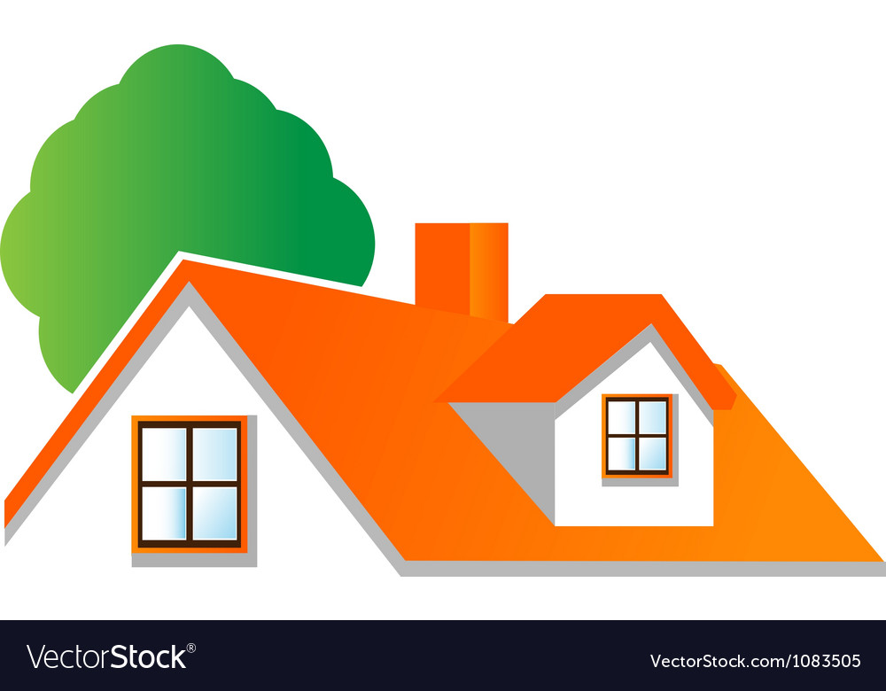 Vector real estate clipart jpg library House roof logo for real estate companies jpg library