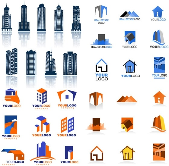 Vector real estate clipart picture royalty free stock Real estate logo template vector Free vector in Encapsulated ... picture royalty free stock